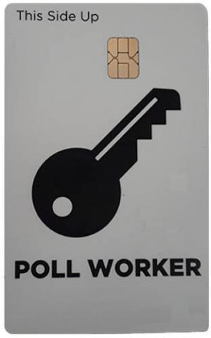 poll worker card